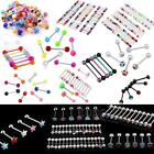 Mixed Color Tongue Bar Ring Barbell Body Jewelry Piercing Hot