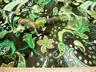 Discount Fabric Sheer (Voile) Green Paisley Floral 200VO