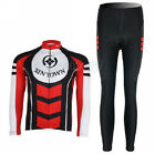 New Cycling Bike Bicycle Clothing Women Suit Long Sleeve Jersey + Pant S-XXL