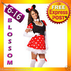 I4 Ladies Minnie Mini Mickey Mouse Fancy Dress Halloween Disney Theme Costume