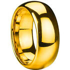 Tungsten Mens or Women Gold 8MM Wedding Engagement Band Wedding Ring AllSize M21
