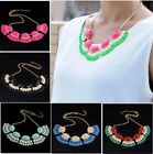 Korean Gothic Sweet Women Bubble Fringe Bib Party Statement Choker Necklace New