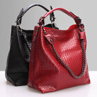 Unique Woman's Real Leather Sling Bag With Remove Leopard Bag Chain Straps BR376