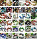100 Mixed Lampwork Glass Big Hole European Beads Fit Charms Snake Chain Bracelet
