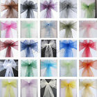50 Organza Sash Chair Bow Wedding Banquet Party Decor Multicolors Craft Hot Sale