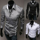 Mens Luxury Stylish Dress Shirt  Business Wedding Shirt Casual Slim Fit Shirt