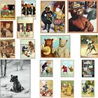 Anthropomorphic Bear Picture Fridge Magnet Pick Fave Smokey Travel Prison Circus
