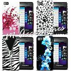 FLORAL SILICONE GEL CASE COVER SKIN FOR BLACKBERRY Z10 + SCREEN PROTECTOR