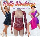 BODY STOCKING WITH SLEEVES STRETCH MESH NET BELLY DANCE PROM OR EVENING DRESS S