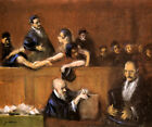 SCENE IN THE TRIBUNAL JUDGE IN THE CENTER LAWYER BY JEAN LOUIS FORAIN 1911 REPRO