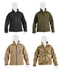 Mens Military Army Combat Recon Zip Fleece Trooper Sweat Shirt Shell Jacket New