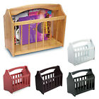 NEW STANDING WOODEN MAGAZINE RACK NEWSPAPER MAIL SHELF STORAGE HOLDER STAND