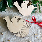 Wooden Dove Shape Hanging XmasTree Decoration Blank Wedding Tags Craft Tags