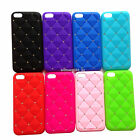 1pc Bling Crystal Diamond Silicone Soft Gel Rubber Case Cover Skin For iPhone 5C