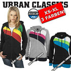 URBAN CLASSICS Womens  3-Colour Jersey Hoody Training Sports Jogging Jacket