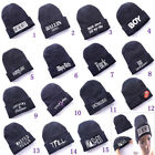 COMME DES F*CKDOWN WAISTED Hip-Hop Unisex Youth Black Beanie Knited Hat Optional