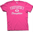 "FIREFIGHTER'S DAUGHTER ""Distressed Print""  Pink or Navy Blue Cotton T-shirts"