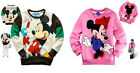 New Baby Kids Boys Girls Disney For Micky&Minnie Mouse Sweatshirts Size 2-8 Yrs
