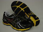 NEW Mens ASICS Gel Kayano 18 T2C4N 9990 Black Onyx Blazing Yellow Sneakers Shoes