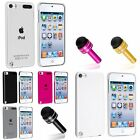 Color Clear Crystal Hard Back Case Cover Shell+Dust Cap Pen For iPod Touch 5 5G