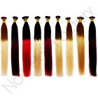 "20"" AAA Grade Remy Hair Extensions Stick Tip Dip-Dye 1 Gram Strands 9 colours"