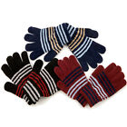 LADIES GIRLS UNISEX WINTER WARM THERMAL INSULATED CHENILLE KNITTED MAGIC GLOVES