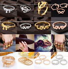 Fashion Infinite Infinity Charms Midi Crystal Bowknot Metal Finger Ring Punk