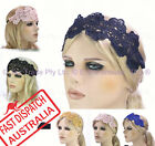 20s Great Gatsby Party Dance Costume Head Piece Hair Band Flapper Lace Headband