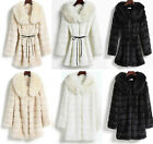 Women's Faux Rabbit Fur Thick Jacket Fur Laple Collar Golilla Long Winter Parka