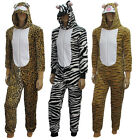 Mens Onesie Ladies Adult Animal Onesies Onsie Playsuit Fancy Pajamas Sleepwear