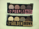 W7 quad eyeshadow palette kit with applicator choose golden/brown or purple haze
