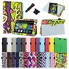 2in1 PU Leather Case Cover+3.5mm/USB Dust Cap For Kindle Fire HD 7 2nd Gen 2013