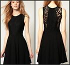 Womens Lace Sexy Little Black Dress Mini Bodycon Clubwear Cocktail Party