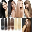 8 Colors Full Head Remy Hair Weft/Weave 100% Human Hair Extension 100g 12-26inch