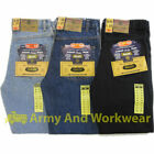 Aztec Mens Heavy Duty Tough Regular Fit Straight Jeans Quality Hard Wearing NEW