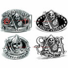 BBUM0152 SONS OF ANARCHY SAMCRO GRIM REAPER SCYTHE MOTORCYCLE BIKER BELT BUCKLE