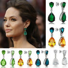 Hot Selling Inspired By Angelina Jolie Bride Formal Prom Teardrop Earrings