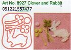 Clover Needle Felting Plastic Shaped Applique Mold - Clover and Rabbit