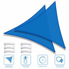 2 Pack Sun Shade Sail Patio Outdoor Canopy UV Block Top Cover Triangle Square