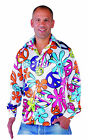 70's Pimp / Hippy Shirt , Bright & Colorful  Shirt with big Collar