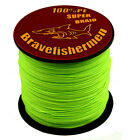 Green 4Strands wire 100M 300M 500M1000M 6-100LB DYNEEMA SPECTRA fishing line