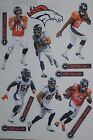 """Denver Broncos Player Mini FATHEAD Official NFL Vinyl Wall Graphic Decal 7"""""""