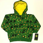 NEW INFANT John Deere Tractor Print Zip Sweatshirt Sizes  12 18 24 Months