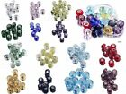 Lots European Murano Glass Faceted Big Hole Loose Spacer Beads Fit Bracelete DIY