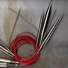 "ChiaoGoo Knit Red Lace Stainless Steel Circular Knitting Needles 32"" Size 0 - 19"