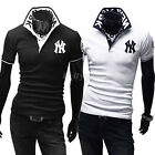 New Mens Casual Formal Slim New York Polo NY T-Shirt Collection Tee Tops
