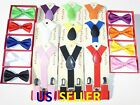 Внешний вид - Suspender and Bow Tie Colors Baby Toddler Kids Boys Girls Child SETS USA seller