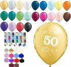 50th Birthday / Anniversary Party Helium Balloons Ribbon & Weight Decoration Kit