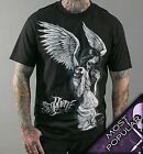 AUTHENTIC SULLEN CLOTHING FALLEN ANGEL PUNK GOTH TATTOO SCENE SKULL SHIRT S-4XL