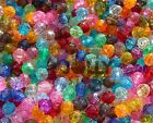 8mm Faceted Round Acrylic Beads 500pc bag Multi Translucent Colors or you choose